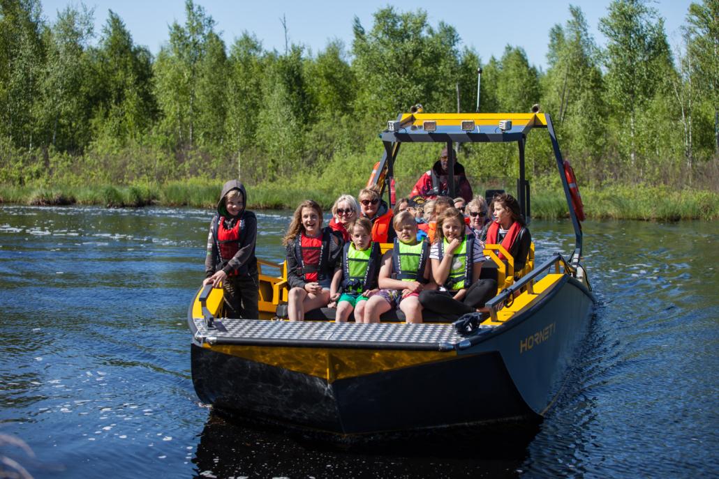 River adventure boat