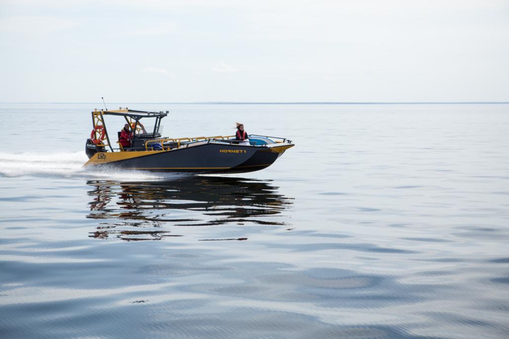 Passenger boat on sea