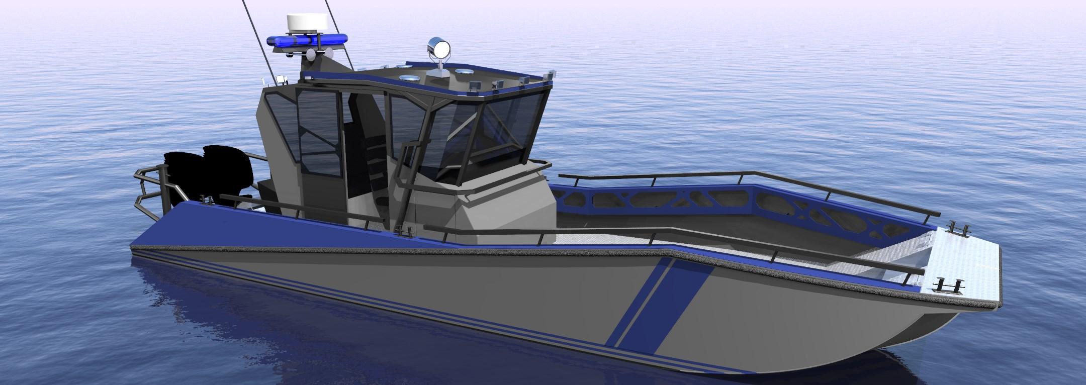 Lake patrol boat